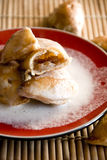 Sweet apple dumplings Stock Images