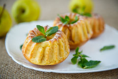 Sweet apple muffins Royalty Free Stock Image