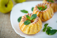 Sweet apple muffins Stock Images