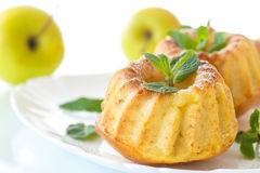 Sweet apple muffins Royalty Free Stock Images
