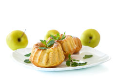 Sweet apple muffins Stock Photo