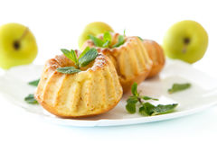 Sweet apple muffins Royalty Free Stock Photography