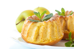 Sweet apple muffins Royalty Free Stock Photos