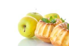 Sweet apple muffins Stock Photos