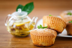 Sweet apple muffins Stock Image