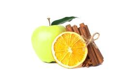 Sweet apple and orange Royalty Free Stock Photo