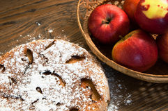 The sweet apple pie Royalty Free Stock Photo