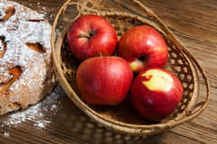 The sweet apple pie Royalty Free Stock Images
