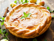 Sweet apple pie Stock Photography