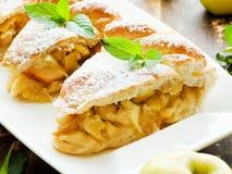 Sweet apple pie Stock Photos
