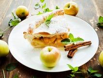 Sweet apple pie Stock Photo