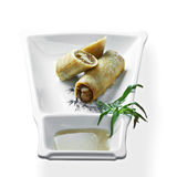 Sweet apple spring rolls Royalty Free Stock Images