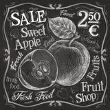 Sweet apple vector logo design template.  fresh Stock Photography
