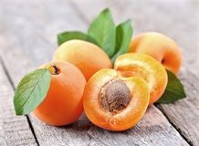 Sweet apricots fruits Royalty Free Stock Photos