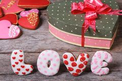 Sweet arrangement Valentine's Day. Royalty Free Stock Photo