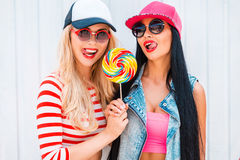 Sweet as lollipop. Royalty Free Stock Image