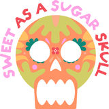 Sweet as a sugar skull Royalty Free Stock Images