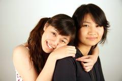 Sweet Asian Chinese girls Stock Photo