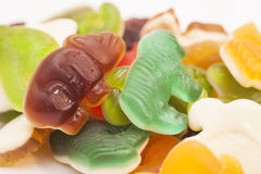Sweet Assortment of Colorful Jelly candies Royalty Free Stock Photography