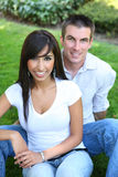 Sweet Attractive Couple in Park stock photography