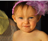 Sweet Baby. Colorful photograph of a baby Stock Images