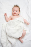 Sweet baby. Girl after bath Royalty Free Stock Photography