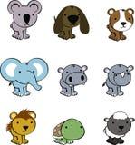 Sweet baby animals cartoon cute set Stock Image