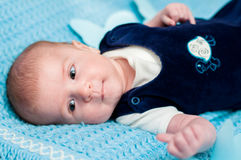 Sweet baby on the bed Royalty Free Stock Photos
