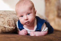 Sweet baby on the bed Royalty Free Stock Photo