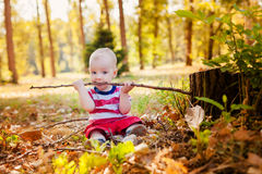 Sweet baby boy playing Royalty Free Stock Images