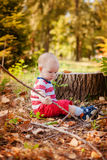 Sweet baby boy playing Royalty Free Stock Photo