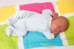 Sweet Baby Boy Sleeping Royalty Free Stock Image