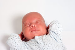 Sweet Baby Boy Sleeping Stock Images