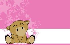 Sweet baby camel cartoon background Royalty Free Stock Image