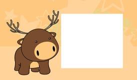 Sweet baby deer cartoon frame background Royalty Free Stock Photo