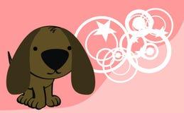 Sweet baby dog cartoon cute background Stock Image