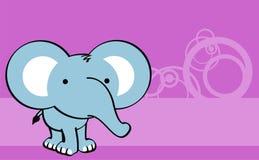 Sweet baby elephant cartoon cute background. Sweet baby animals cartoon cute vector background Stock Photos