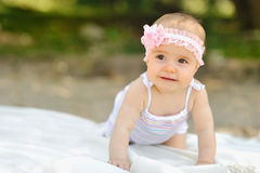 Sweet baby girl Stock Image