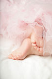 Sweet baby girl, little feet Royalty Free Stock Photo