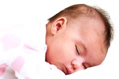 Sweet baby girl peaceful and asleep Royalty Free Stock Photography