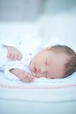 Sweet Baby Girl Sleeping Stock Photography