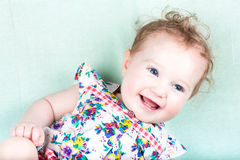 Sweet baby girl in a summer dress Royalty Free Stock Photo