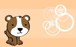 Sweet baby hamster cartoon cute background Stock Image