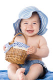 Sweet baby with hat Stock Image