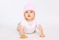 Sweet baby in hat Stock Image