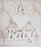 Sweet baby and heart signs Stock Images
