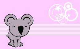 Sweet baby koala cartoon cute background Royalty Free Stock Photo