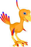 Sweet Baby Phoenix Cartoon Stock Image