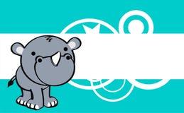 Sweet baby rhino cartoon cute background Royalty Free Stock Photo