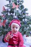 Sweet Baby Santa Claus Royalty Free Stock Photo